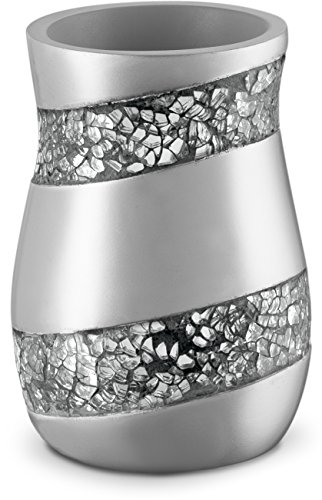 DWELLZA Silver Mosaic Bathroom Tumbler Holder (3