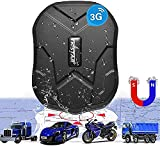 TKSTAR 3G GPS Tracker for Vehicles Hidden Car GPS Tracker with Strong Magnet 5000mAh Real-time Anti-Theft Vehicle Tracking Device for Car/Motorcycle/Trucks/Boat/Fleet(3G TK905)