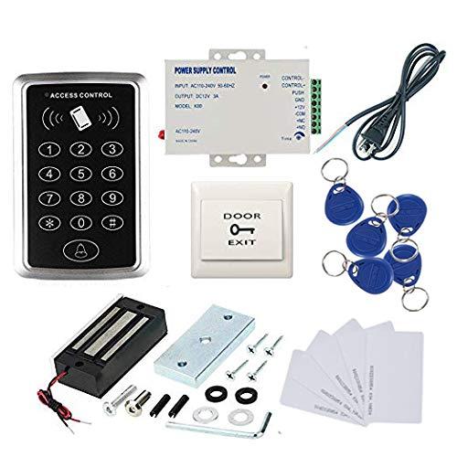 125khz RFID EM ID Keypad 1000 Users Single Door Access Control Kit 60kg electromagnetic 110-240V Power Supply RFID Keyfob/Card