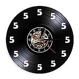 SKYTY Siempre Es El Reloj De Pared De Las Cinco En Punto Decoración para El Hogar 5 Tiempo De Cerveza Reloj De Pared De Vinilo para Beber Cerveza-no led Light