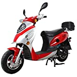 X-PRO 50cc Street Legal Automatic Moped Scooter,Red
