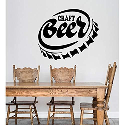 Vinilo pegatinas de pared decoración de la pared pegatinas de bricolaje cerveza artesanal alcohol toallita tapa de botella bar oferta restaurante 56X66Cm
