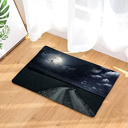 HTDG Alfombra Alfombra Luna Estrella Cielo 3D Hermosa Alfombra Interior Adecuado para Sala de Estar sofá Mesa de café Dormitorio Dormitorio de Noche 50 * 80cm