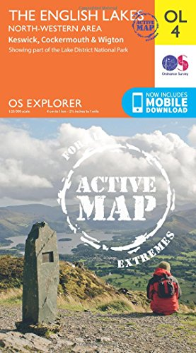 OS Explorer ACTIVE OL4 The English Lakes North Western area OS Explorer Map