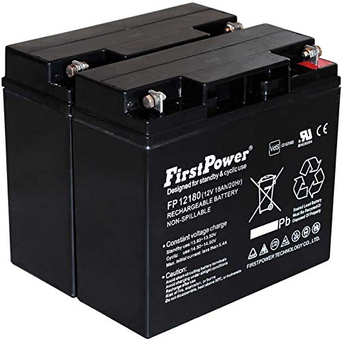 FirstPower Blei-Gel Akku für USV APC Smart-UPS 1500 12V 18Ah VDs, 12V, Lead-Acid