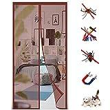 Mosquitera Puerta Magnetica, HGPFCB Cortina Mosquitera para Puertas, Adsorción Magnética Plegable Anti Mosquito Insecto Mosquitera,ara Puertas de Salón Balcón Corredor,Tamaño: (ancho x alto)