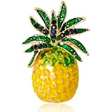 NICE Nymph Brooch Pin, Rhinestone Fashion Jewelry Women Cartoon Gifts Antique Corsage (25-Pineapple)
