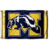 College Flags & Banners Co. Michigan Wolverines Vintage Retro Throwback 3x5 Banner Flag