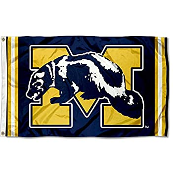 College Flags & Banners Co Michigan Wolverines Vintage Retro Throwback 3x5 Banner Flag