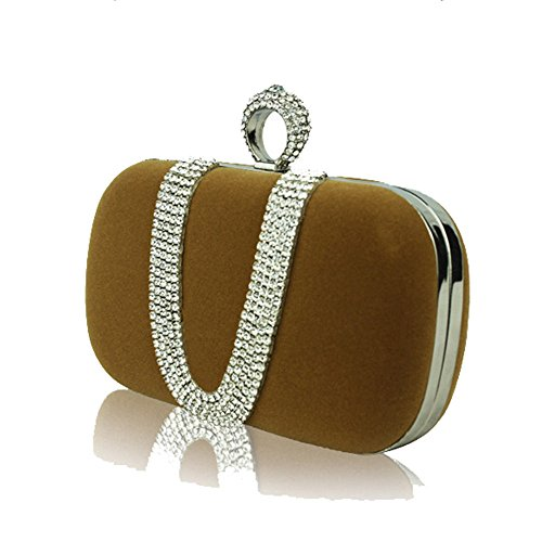 Wuxingqing Embrayages pour Femmes Bolso Elegante de la Tarde del Rhinestone de...