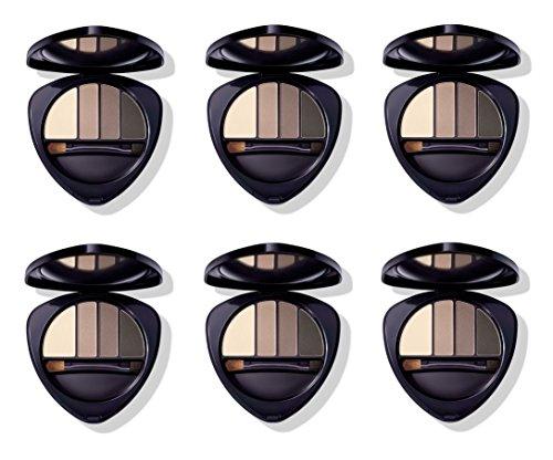 Dr.HAUSCHKA – Eye and Brow Palette 01 Stone 6 boîtes de 4,4 g, Fard à paupières en 100% naturel, tons vellutate et opaques, profondeur et espressività du regard