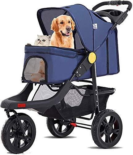 ZouYongKang Pet Roadster, Cochecito de Lujo para Mascotas para Cachorro, Perrito Mayor o Gato, con Forro extraíble y Cesta de Almacenamiento, para Mascotas pequeñas, múltiples Colores (Color : A)