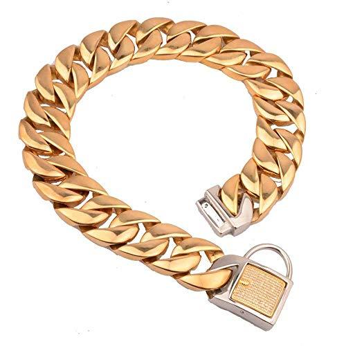 Collarzxy Halsband Halsband Für Hunde Haustier-Hundekettenhalsketten Aus Edelstahl 316L -65Cm