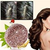 Barra de champú orgánico gris inverso, barra de jabón sólido, barra de champú para el cabello, barra de champú para cabello natural, para cabello seco (Multiflorum)