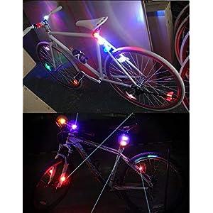 4 Piezas LED Clip-On Silicon Band Luces de Bicicleta Lámpara Luz LED para Bicicleta Super Brillante Luz Bici Frontal y Trasera ,Satisfacción al 100% y ¡Libre de Riesgos!