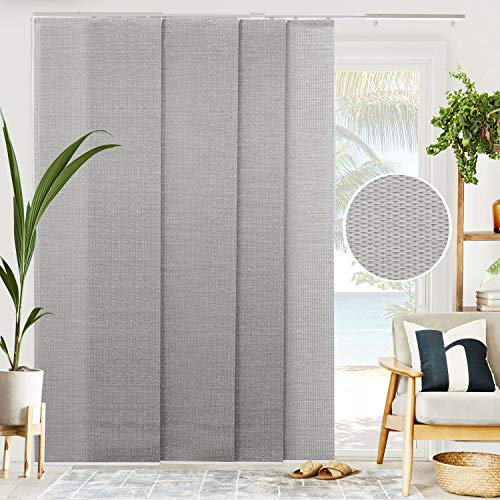 """CHICOLOGY Trimmable Length, Adjustable Track Width X 96"""" H, Woven Gray (Natural Woven)"""