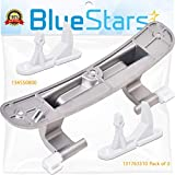 Ultra Durable 134550800 Washer Door Hinge with Bushings & 131763310 Washer Door Striker Kit Replacement by...