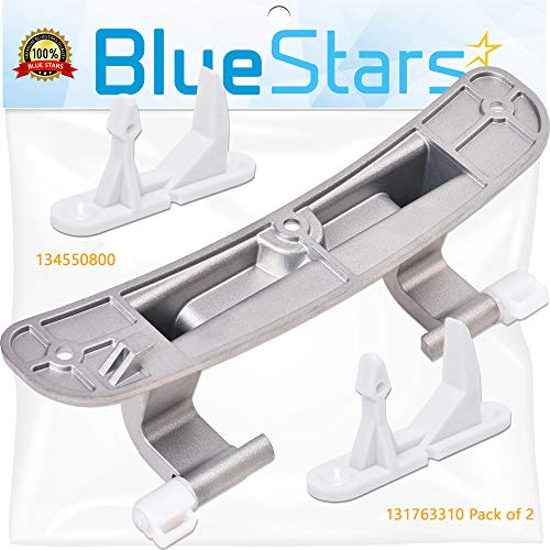 Ultra Durable 134550800 Washer Door Hinge with Bushings & 131763310 Washer Door Striker Kit Replacement by Blue Stars - Exact Fit for Frigidaire Kenmore Washers - Replaces 1191162 AP3886714 131763300