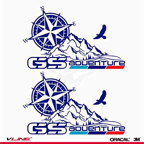 Provinyl Pegatinas Mapas Adventure GS Compatible para BMW GS, R 1200 GS...