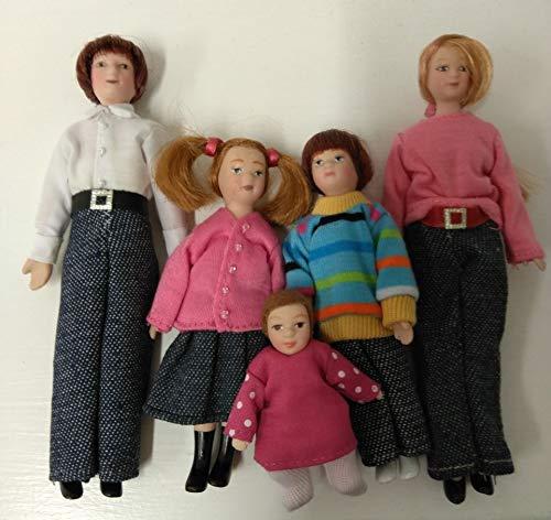 Dolls House 6537 en famille 5 poupées pour maison de poupée