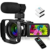Welcam Video Camera with Microphone Vlogging Camera Digital Camcorder FHD 1080P 36MP/30FPS, IR Night Vision, 16X Digital Zoom, 3.0' IPS Touch Screen Digital Camera Webcam for Video Chat YouTube Camera