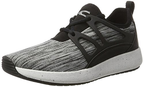 camel active Damen Spring 71 Sneaker, Grau (lt.Grey/Black 01), 39 EU