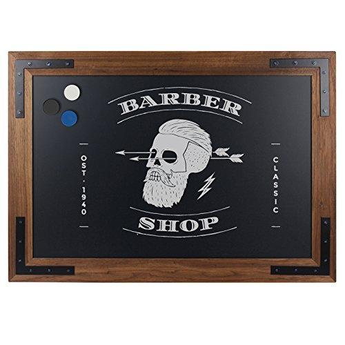 Display verkoop Krijtbord, hout Noir magnetisch schrijfbord, wandplank, houten frame, design board 50x70 cm