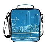 FAJRO City Metro Lunch-Tasche, isoliert, Kühltasche