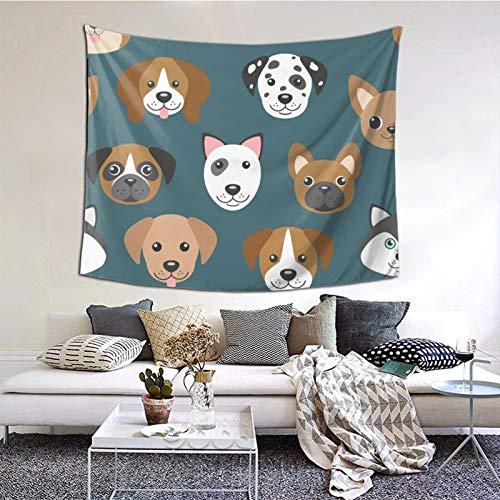 Cartoon Dog Muzzles Tapestry Celestial Tapestry Wall Hanging Tapestry Hippie Hippy Tapestry Wall Decorations