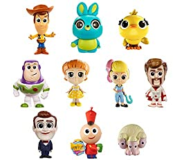Disney Pixar Toy Story 4 variety pack of 10 mini character figures  Cute, elegant designs and dynamic poses  Compact to recreate key movie scenes at home and on the go  Makes an instant collection and great toddlers and kids birthday gift  Comes...