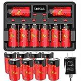 Arlo Batteries Rechargeable 16 Pack, FARSAIL 800mAH 123A Batteries Replacement 3V CR123A Battery and Charger for Arlo VMC3030 VMK3200 VMS3130 3230C 3430 3530 Wireless Security Cameras, Flashlight