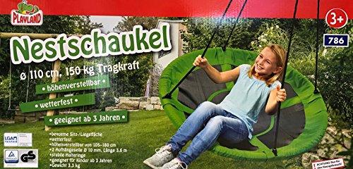 Playland Nestschaukel 110 cm Nest Schaukel (Grün)