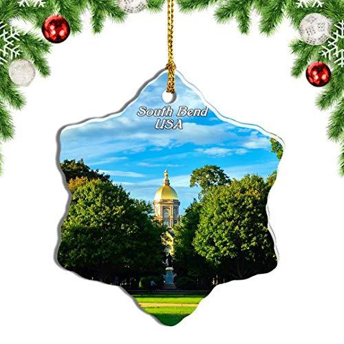 Weekino USA America South Bend University of Notre Dame Christmas Ornament Travel Souvenir Tree Hanging Pendant