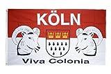 Fahne / Flagge Köln Viva Colonia + gratis Sticker, Flaggenfritze®