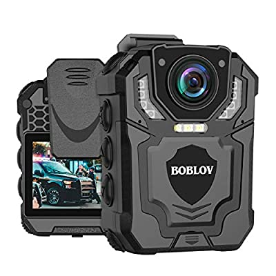 BOBLOV New T5 1296P Body Camera with Audio Recording Expand Memory Supported Max 128G, Wearable Police Body Camera for Law Enforcement, Night Vision, File Protection(Card not Including)
