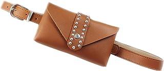 Bags, Fashion Women Pure Color Square Leather Messenger Bag Chest Bag Waist Bag