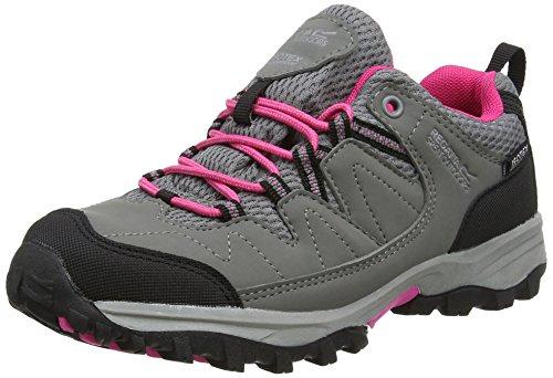 Regatta Unisex-Kinder Holcombe Low Jnr Schuhe mit niedrigem Anstieg, Grau (Steel/Tulip), 38 EU