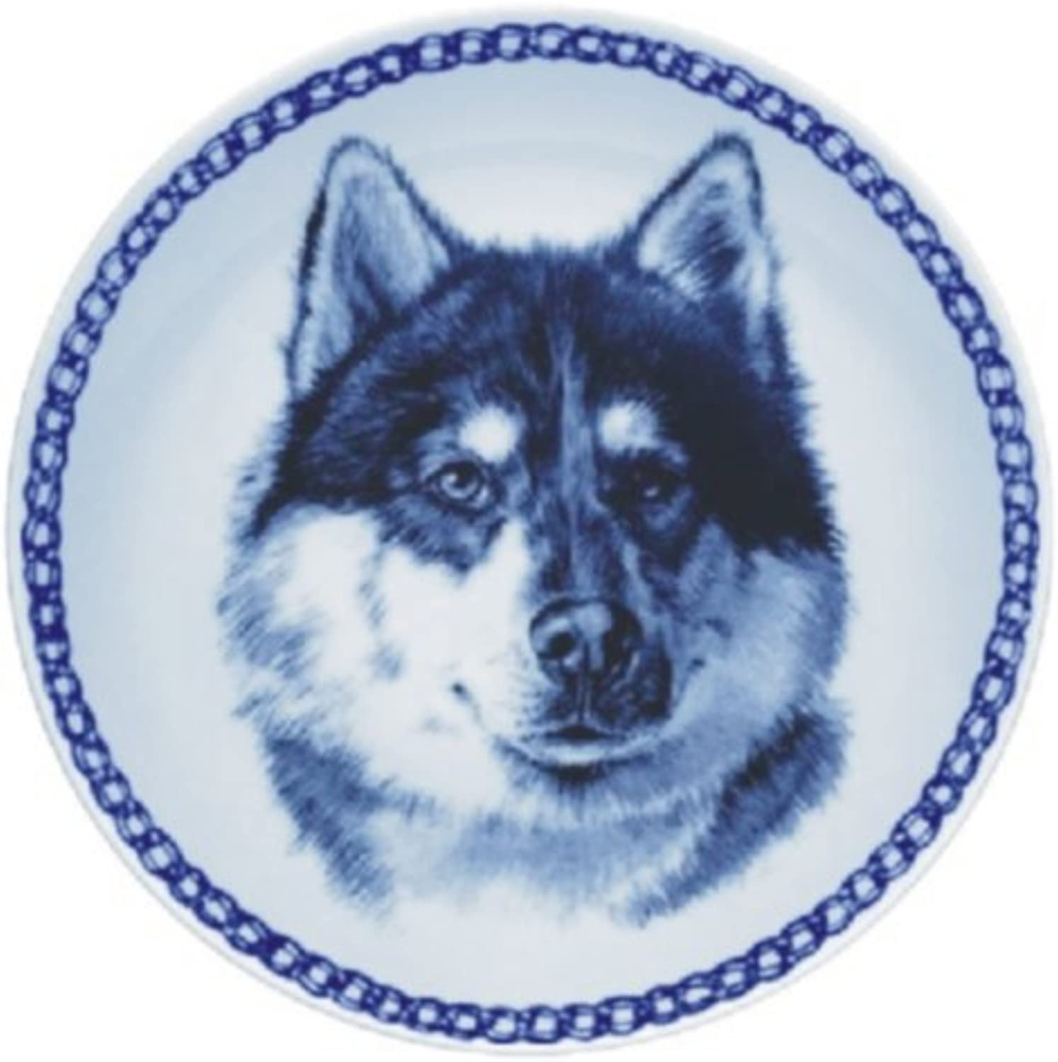 Canadian Eskimo Dog Lekven Design Dog Plate 19.5 cm  7.61 inches Made in Denmark NEW with certificate of origin PLATE  7562