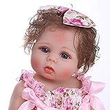 Pinky Reborn 18 Pulgadas 45cm Gemelos de Cuerpo Completo Muñecos bebé Niña Vinilo de Silicona Suave ...