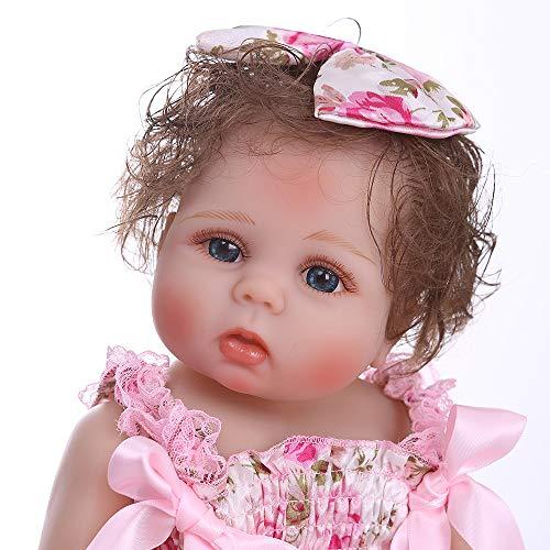 Pinky Reborn 18 Pulgadas 45cm Gemelos de Cuerpo Completo Muñecos bebé Niña Vinilo de Silicona Suave Realista Renacer Bebé Imán Impermeable Chupete (Item 1)