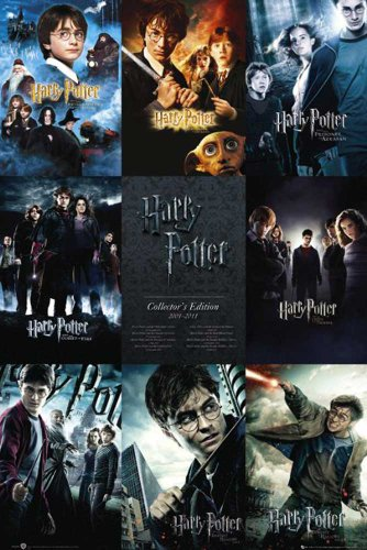 Harry Potter - Collection Mystery Fantasy Filme Kino Poster Plakat Druck - Grösse 61x91,5cm