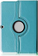 Cover Samsung Galaxy Tab 4 10.1 Tablet Case,Galaxy Tab4 10.1 inch Case,360 Rotating Leather Protective Case for Samsung Galaxy Tab 4 10.1 SM-T530 Case,Light Blue