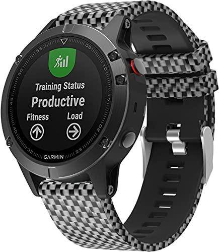 Gransho Compatible con Garmin Approach S60 / Approach S62 Correa de Reloj, Banda de Reemplazo Silicona Suave Sports Pulsera (Pattern 4)