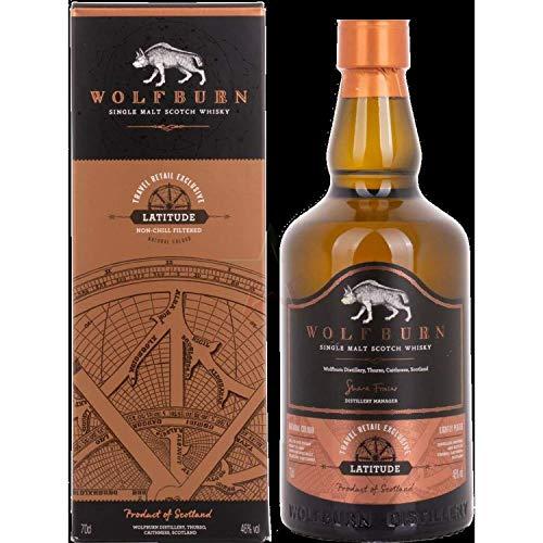 Wolfburn LATITUDE Single Malt Scotch Whisky Travel Retail Exclusive Whisky (1 x 0.7 l)
