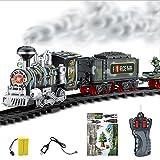 Momola Contrôle à distance voiture de transport de fumée électrique de la vapeur de train RC modèle jouet cadeau (C)