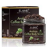 Arabica Coffee Body Scrub, 100% Natural Detoxifying Face Scrub & Exfoliating Body Scrub for Acne & Eczema Treatment, Exfoliate Moisturize, Stretch Mark Scar & Cellulite Remover review