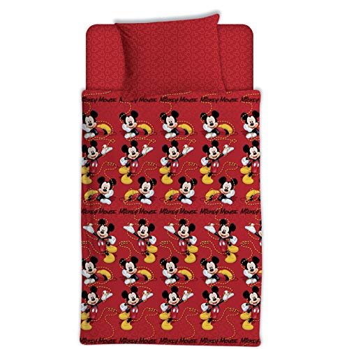 Asditex Juego de Sábanas Coralina Infantil Mickey Mouse, 3 Piezas (1 Sábana Encimera, 1...