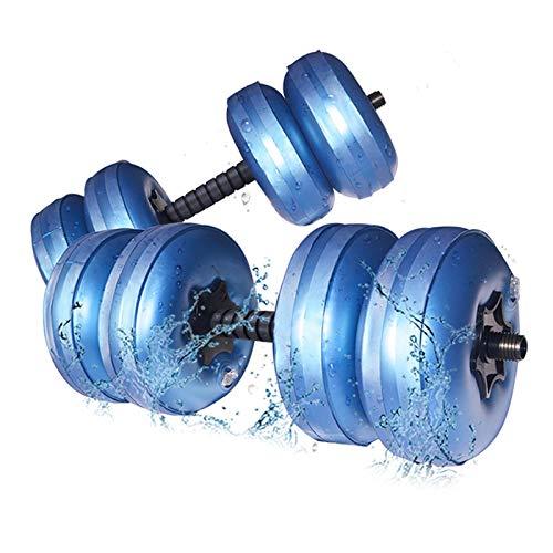 POHOVE Mancuernas llenas de agua ajustables y libres de PVC, mancuernas plegables y ajustables de hasta 30 a 35 kg/par para ejercicio físico, entrenamiento de levantamiento de pesas