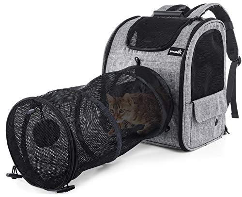Pecute Transportin Gato Mochilas para Gatos y Perro Bolsa para Mascotas Expandible...
