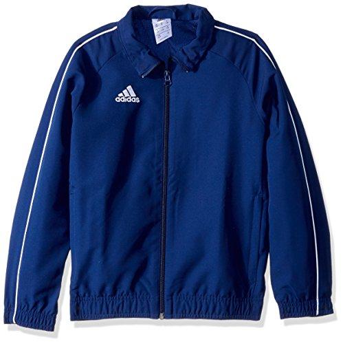 adidas Juniors Core 18 Soccer Presentation Jacket, Dark Blue/White, Medium